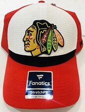 Chicago Blackhawks Authentic Stretch Flex Fit Hat Fanatics NWT Large/XL Cap Sale