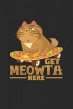 New listing Get meowta here: 6x9 Longboarding - grid - squared paper - notebook - notes