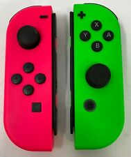 Genuine Nintendo Joy-Con Controllers (L / R) - Neon Pink, Neon Green - New Other