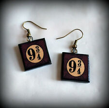 Harry Potter Inspired Hogwarts Express Platform 9 3/4 Polymer Clay Earrings