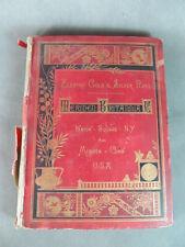 1882 MERIDEN BRITANNIA Gold & Silver Plate CATALOG & Price List--Hard Cover Book