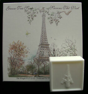Eiffel Tower Soap - Boxed Set of 4-150g French Soaps - Green Tea Scent