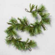 Hearth & Hand Magnolia Artificial Pine Garland White Berry 6 Ft. NWT **Free ship
