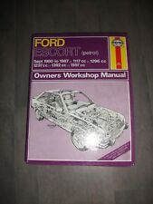 Ford Escort Sept 1980-1987 1117cc 1296cc 1297cc 1392cc 1597cc Haynes Manual