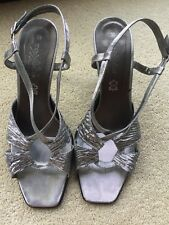 Silver Sandals/Shoes By Zodiaco Italy UK 6 EUR 39 Exc Cond