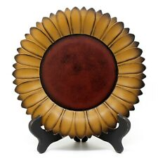 Sunflower Plate with Rack Primitives Wooden Plate Home and Office Décor Art