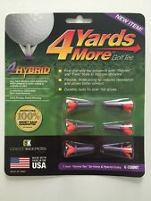 """4 Four Yards More 1"""" HYBRID Purple Golf Tees 6 pack NEW"""