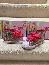 JoJo Siwa Legacee High-Top Multi Glitter Pink Bow Size 3 1/2 Girls Youth Shoes