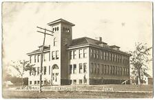 Marathon Iowa IA (Buena Vista County) Old High School Building RPPC 1913