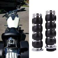 "7/8"" Universal Motorcycle Hand Grips Chrome Fit For Honda Suzuki Kawasaki Yamaha"