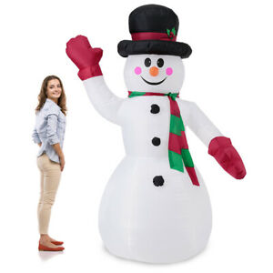 B-WARE Schneemann 240cm LED Beleuchtet Weihnachten Deko Lebensgroß Aufblasbar