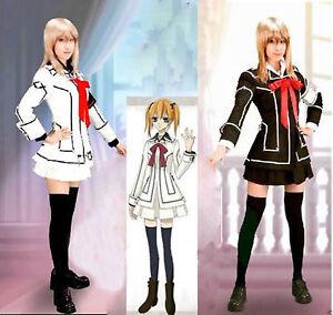 Vampire Knight Cosplay Costume dress Yuki Cross White & Black uniform