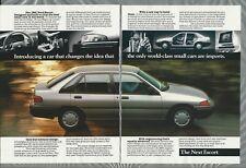 1991 FORD ESCORT 8-page advertisement, Escort , Escort GT, Escort wagon
