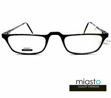 "NWT$39.99 MIASTO HALF FRAME ""CARBON FIBER"" 1/2 READER READING GLASSES+2.25 BLACK"