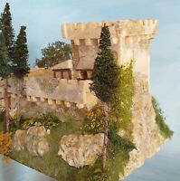 Miniature castle, ready made, no assembly required HO 1:87