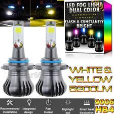 9006 Upgrade Dual Color LED Fog Light Bulb for RAM 2500 3500 13-15 RAM 1500 2014