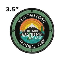 Yellowstone National Park Embroidered Patch Iron-On / Sew-On Compass Applique
