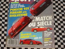 SPORT AUTO 1987 FERRARI F40 + GTO EVOLUZIONE / PORSCHE 959 / BMW 750i /  n°307