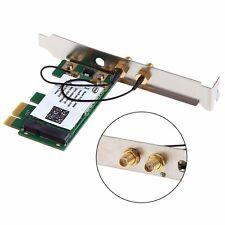 2.4/5GHz Dual Band Wireless Desktop WIFI WLAN Card 300M PCI-E X16 X1 PC Compute