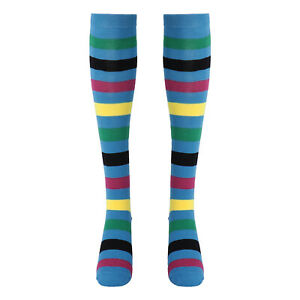 New Women Men Striped Middle Tube Socks Elastic Breathable Athletic Sports Socks