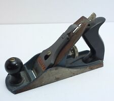 Vintage 9 3/4 Inch Blue Stanley Planer C557MP Made in USA Woodworking Good User
