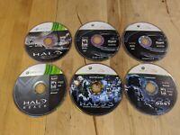 Xbox 360 Halo Lot Bundle Loose Disc Halo Essentials Halo 3 ODST Halo Reach