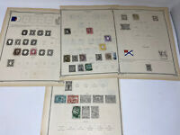 Portugal Stamp Album Pages 1862-1898 Hinged to Page total of 21 Stamps