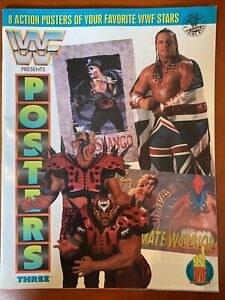 WWF Magazine Presents Posters Three 1992 TitanSports 8 Posters Inside