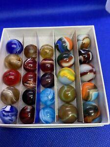 Peltier Glass Company 25 Slags and Rainbos