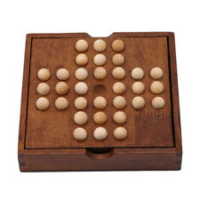 Wooden Puzzles Marble Solitaire Chess Games Intelligence Entertainment Toys LD
