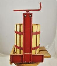 Vintage Steel & Wood Cider Fruit Wine Press