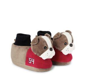 NWT Gymboree Toddler Boys Sz 7-8 Preppy Puppy Slippers Bulldog 54