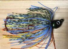 Jointed Swim Jig Lot Of 3 Poison Swingtail   1/4Oz 3/0 Hook Powder Bluegill