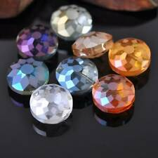 20pcs Mixed 18mm Rondelle Faceted Crystal Glass Loose Beads for Jewelry Making