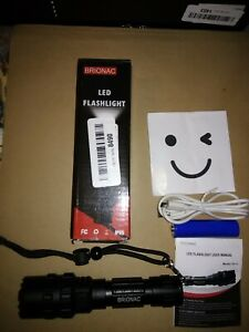 Brionac Rechargeable LED Flashlight, Waterproof Flashlight