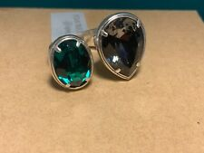"""BRIGHTON """"Graceful"""" Green Gray Your True Color Cocktail Ring Size 7 NWT"""