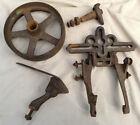 "Antique Planet Jr Cultivator Small Single Wheel Cast Iron Hand Plow - 8"" Wheel"