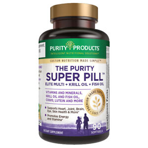 The Purity Super Pill Elite Multi + Krill & Fish Oil Astaxanthin Purity Products
