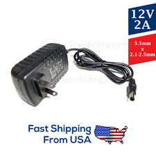 12V 2A Power Supply, AC Adapter, 5.5x2.1-2.5mm, for Surveillance/security system
