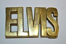 Nice Vintage 1970s ELVIS Presley Rock Music Solid Brass Belt Buckle Rare