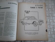 REVUE TECHNIQUE FIAT 125 BERLINE 1608 CM3