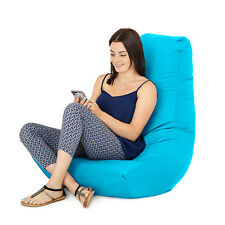 Turquoise Gamer Adult Bean Bag Gaming Chair Giant Outdoor Seat Beanbag Highback