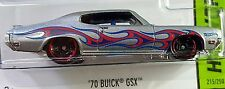 Hot Wheels 2014 HW Workshop '70 Buick GSX Silver 1970 Flames GM 1:64 BFD94