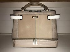 44e01609781f River Island Beige Structured Bag With Front Zip Detailing