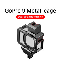 ULANZI G9-5 Double Cold Shoes Vlog Metal Cage Case for Gopro Hero9 Black