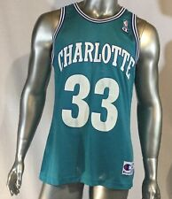 34e3e0233c85 Alonzo Mourning Charlotte Hornets Champion NBA Jersey 44 Teal Away 33