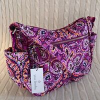 Vera Bradley Iconic On The Go Crossbody Purse Dream Tapestry Purple NWT MSRP $80
