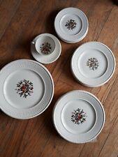 Vintage Dinner For One Wedgwood Edme Conway Etruria Barlaston China Set AK8384