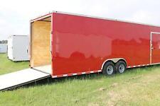 8.5x28 Enclosed Trailer Cargo Car Hauler 8 V-Nose Construction 30 Box 2017 CALL