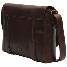 FRYE Men's Logan Messenger Bag, Dark Brown, One Size
